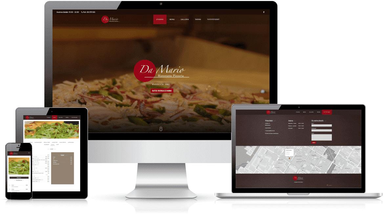 Refenrenssi Pizzeria Da Mario nettisivut | Delanet