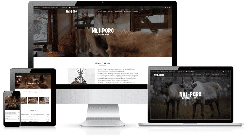 Nettisivut Oulu | Referenssi Ravintola Nili-Poro | Delanet