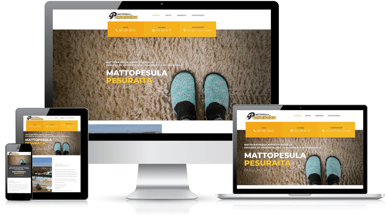 Delanet uudisti Mattopesula Pesuraidan nettisivut.